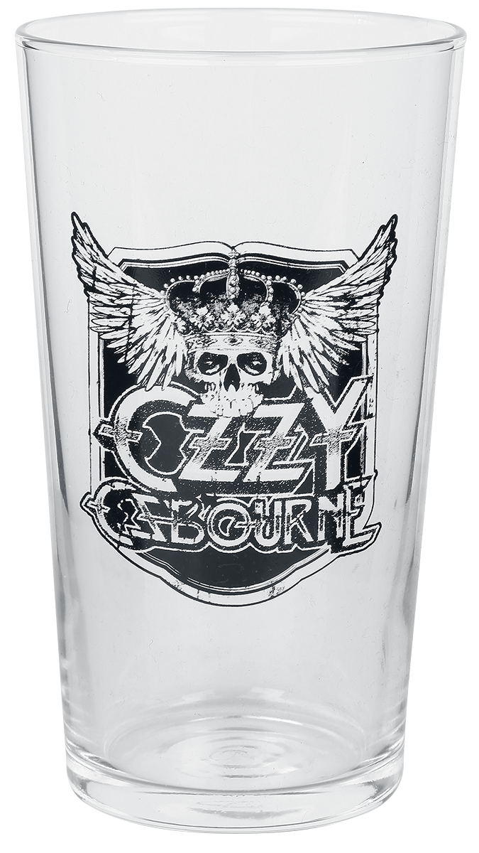 Ozzy Osbourne - Crest - Pint-Glas - klar