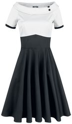 Darlene Retro Multi Tone Swing Dress