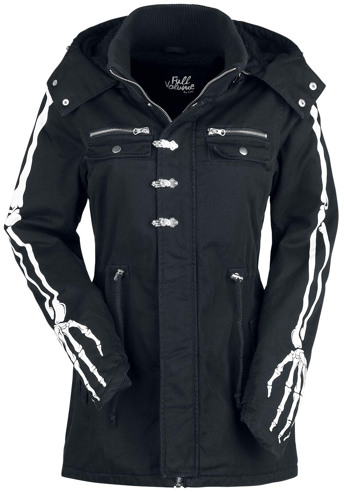 Jacken für Frauen - Full Volume by EMP She Rules Winterjacke schwarz  - Onlineshop EMP