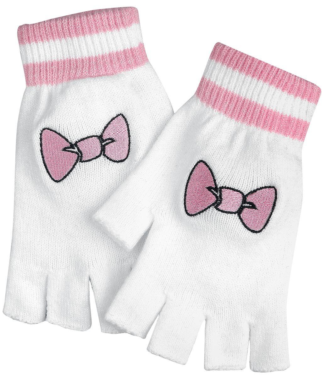 Handschuhe - Aristocats Marie Kurzfingerhandschuhe weiß rosa  - Onlineshop EMP