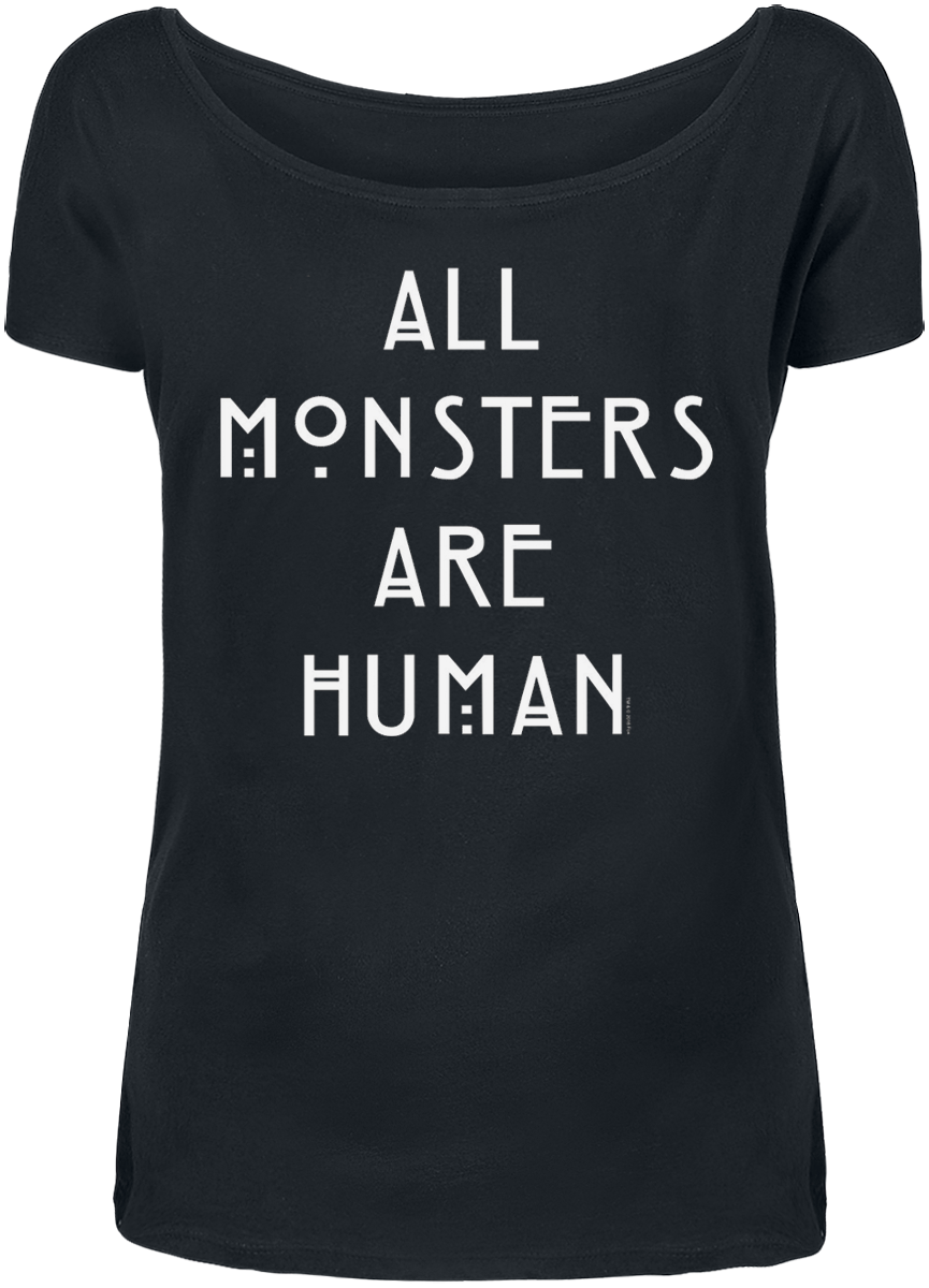 American Horror Story - All Monsters Are Human - Girls shirt - black image