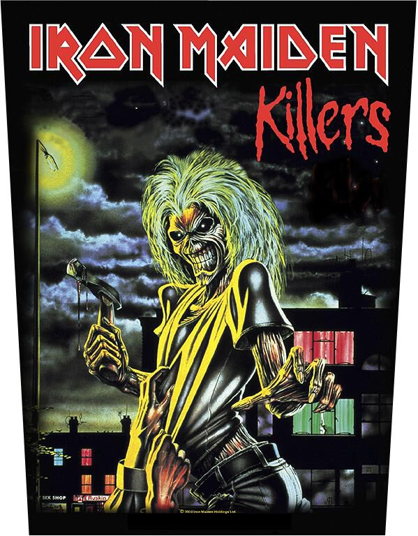 Image of Iron Maiden Killers Backpatch multicolor