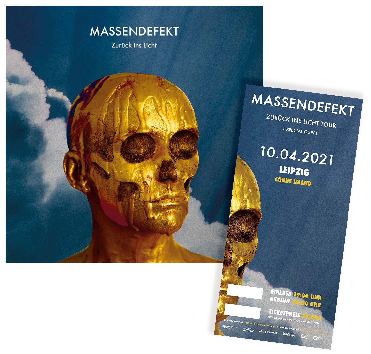 Image of Massendefekt Zurück ins Licht - Leipzig - 10.04.2021 - Conne Island CD & Ticket Standard