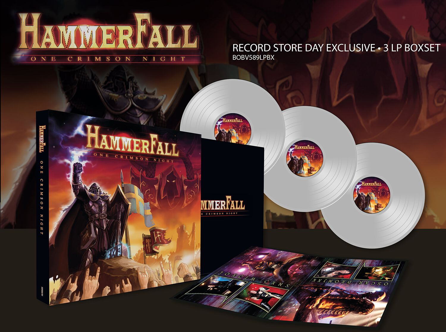 Image of HammerFall One Crimson Night 3-LP klar
