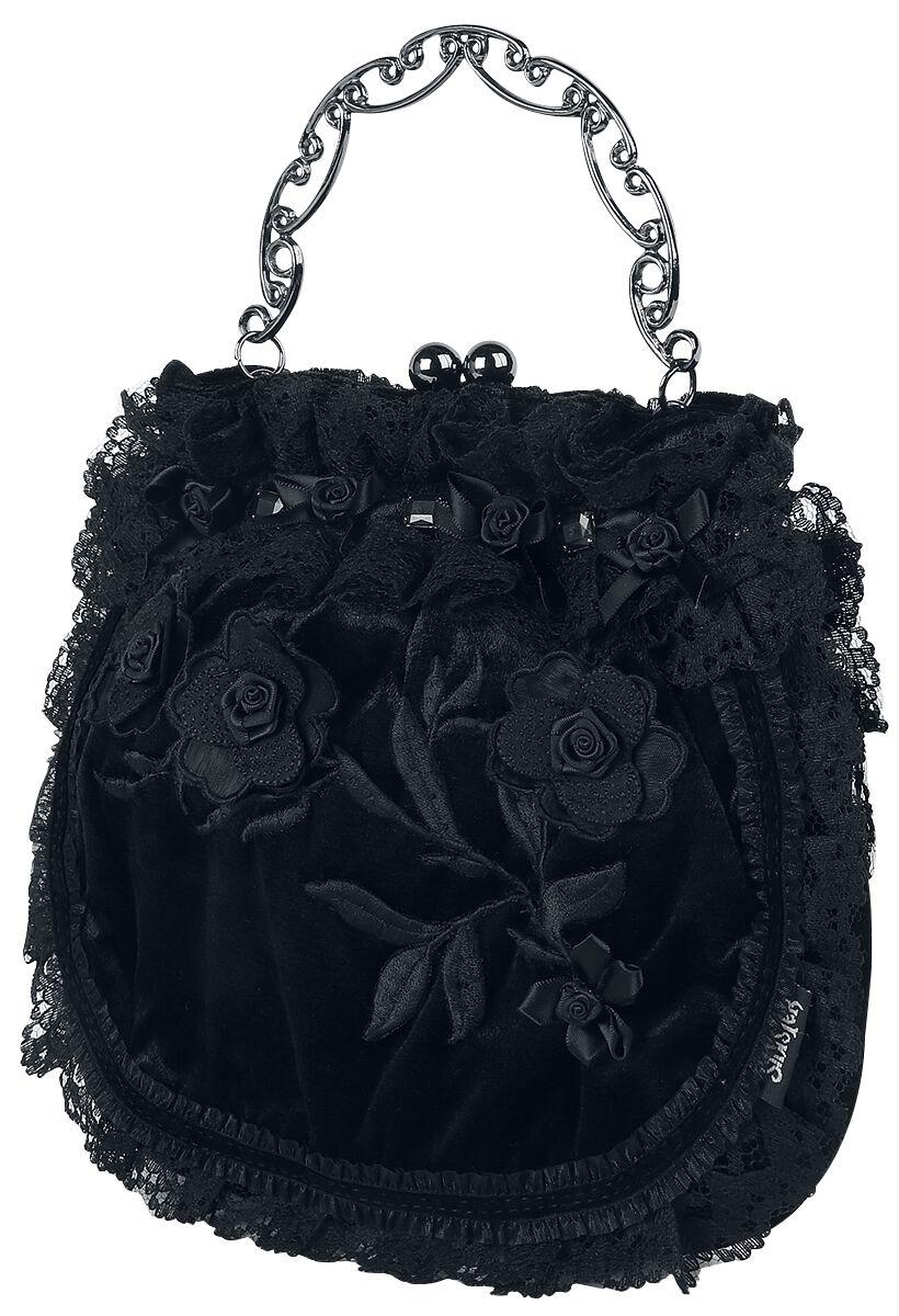 Handtaschen - Sinister Gothic Leaves And Roses Handtasche schwarz  - Onlineshop EMP