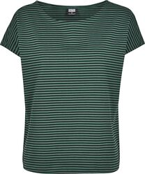 Ladies Yarn Dyed Baby Stripe Tee