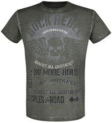 T-Shirt mit Skull und Schriftzügen