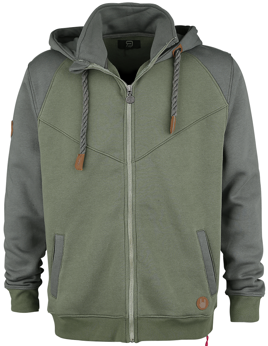 RED by EMP - Mask Of Sanity - Hooded zip - olive-grey image