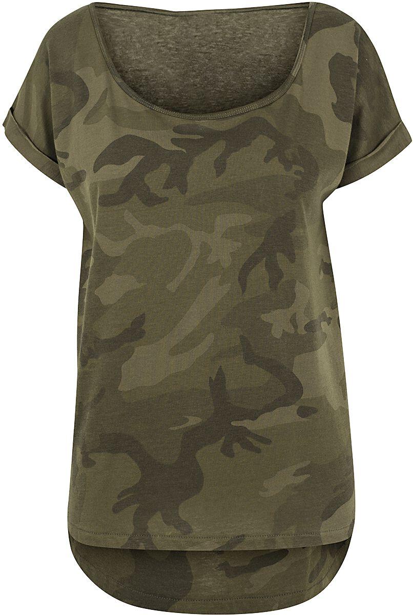 Black Premium by EMP Ladies Camo Back Shaped Tee T-Shirt woodland EM1635_woodland