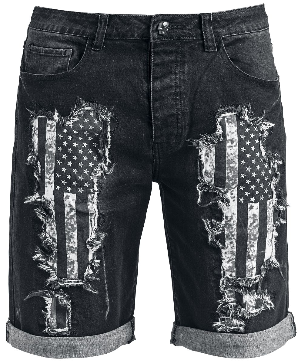 Rock Rebel by EMP Walk With Me In Hell Shorts black