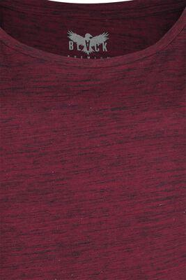 Rotes T-Shirt in Melange-Optik
