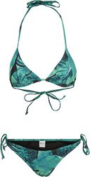 Ladies Triangle Leaf Green Bikini