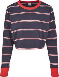 Ladies Short Yarn Dyed Skate Stripe LS