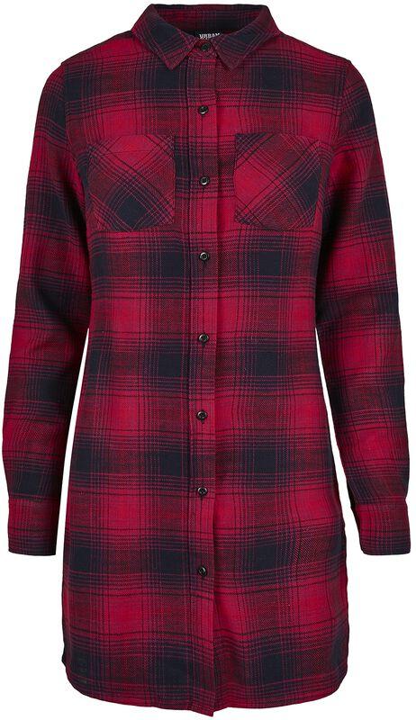 Ladies Check Shirt Dress