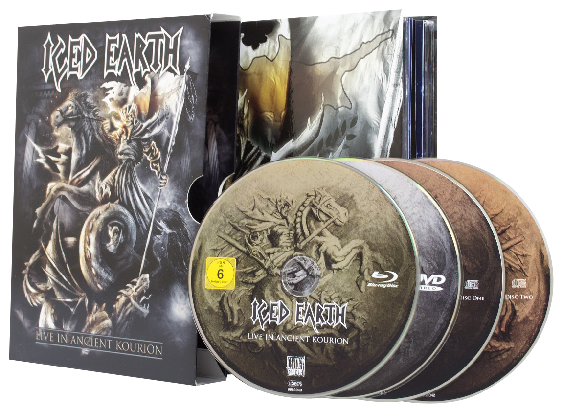 Image of Iced Earth Live in ancient Kourion 2-CD & DVD & Blu-ray Standard