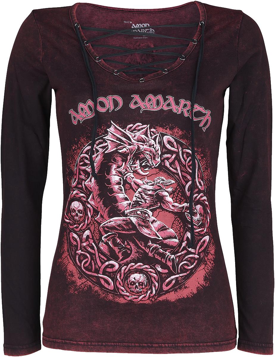 Amon Amarth - EMP Signature Collection - Girls longsleeve - burgundy image