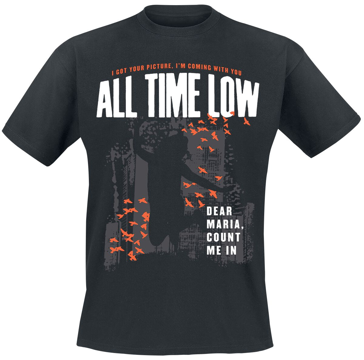 Image of All Time Low Dear Maria Throwback T-Shirt schwarz