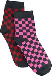 2er Pack Checkerboard Socks