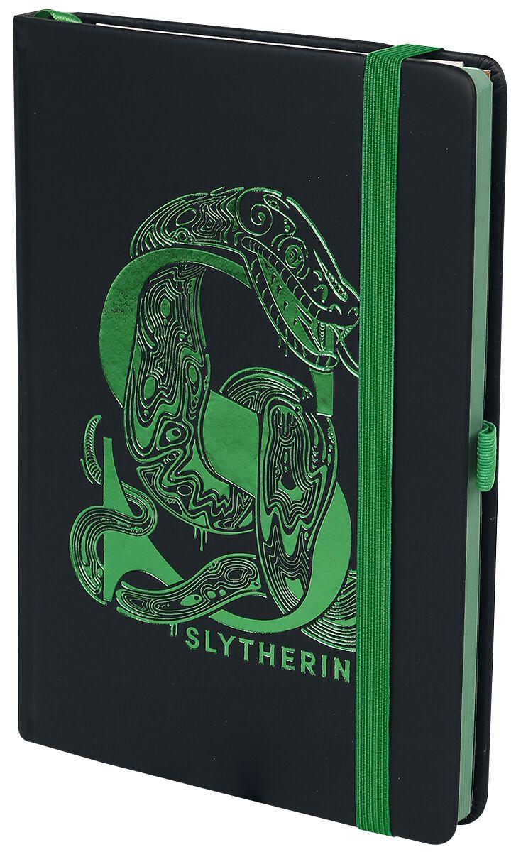 Harry Potter Slytherin - Premium Notizbuch Notizbuch schwarz grün SR72696