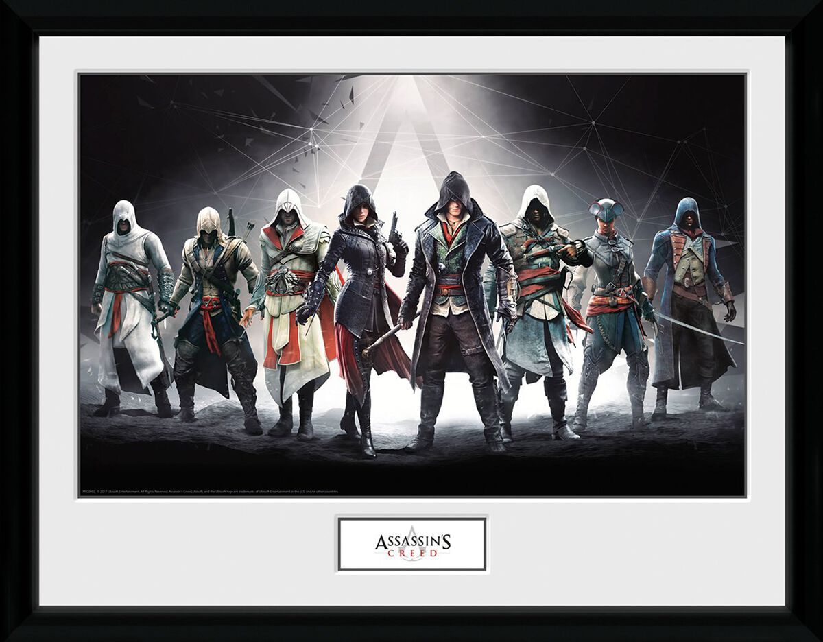 Image of Assassin's Creed Characters Gerahmtes Bild Standard