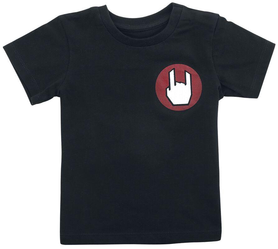 Schwarzes T-Shirt mit Logo