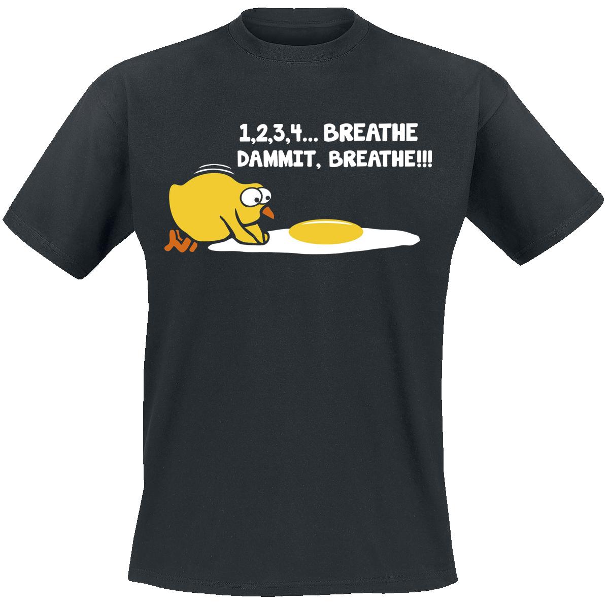 1,2,3,4... Breathe, Dammit, Breathe!!! - - T-Shirt - black