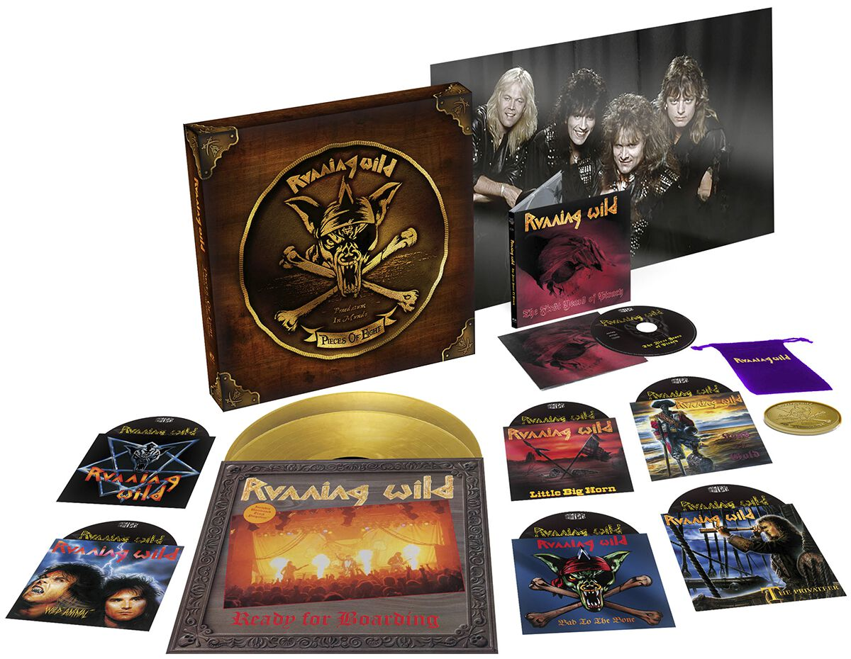 Image of Running Wild Pieces of Eight - The Singles, Live and Rare 1984 - 1994 6-EP & CD & 2-LP Standard