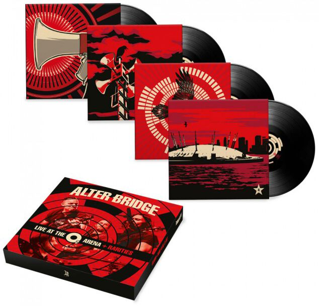 Image of Alter Bridge Live at the O2 Arena + Rarities 4-LP Standard