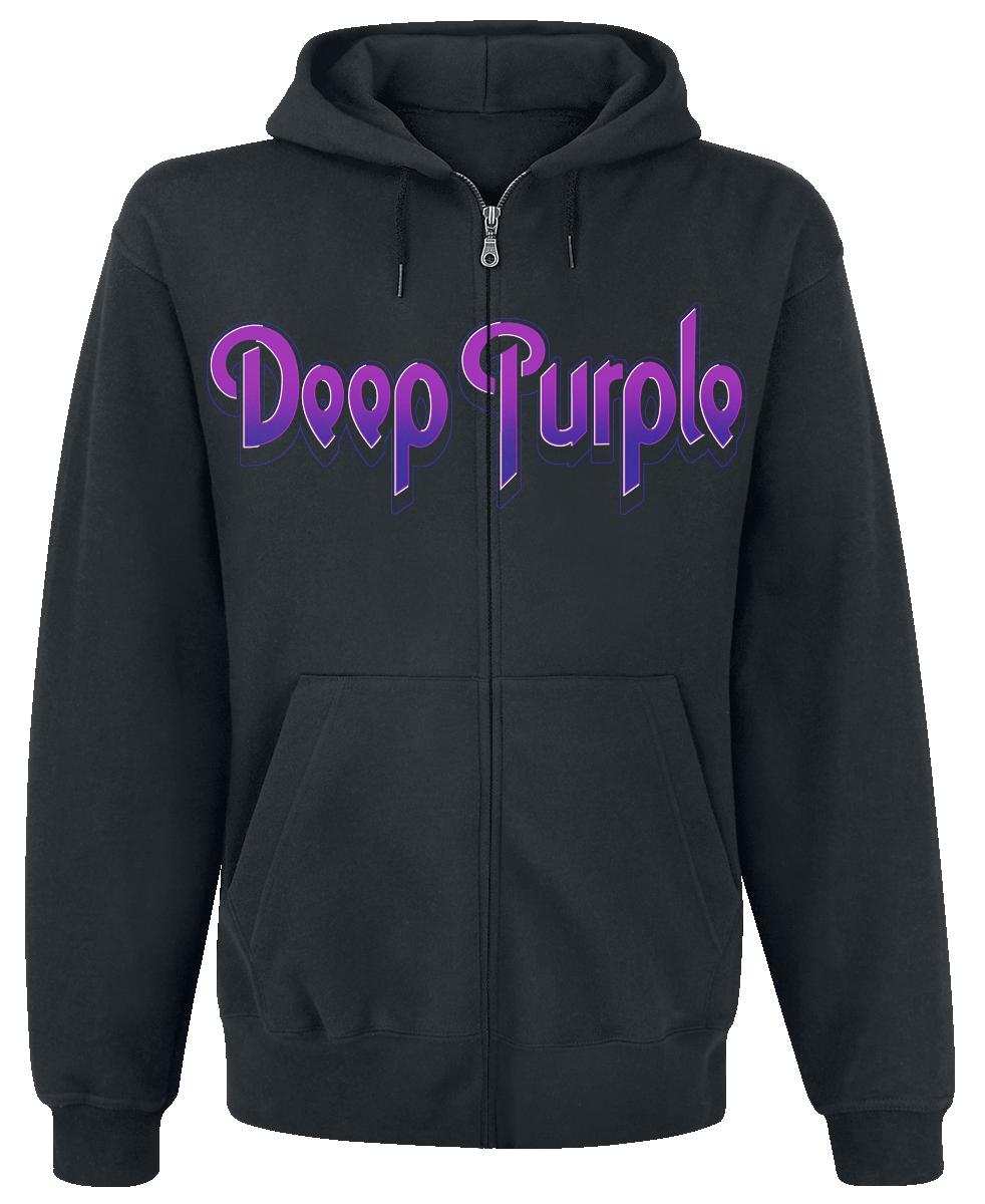 Deep Purple - Smoke On The Water - Hooded zip - black image