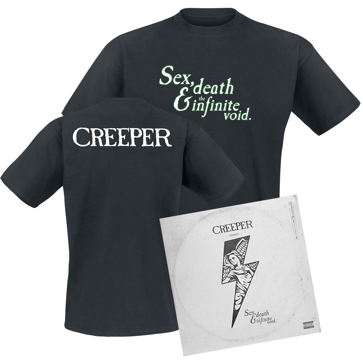 Image of Creeper Sex, death & the infinite void CD & T-Shirt Standard