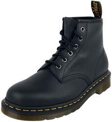 101 Black Nappa 6 Eye Boot