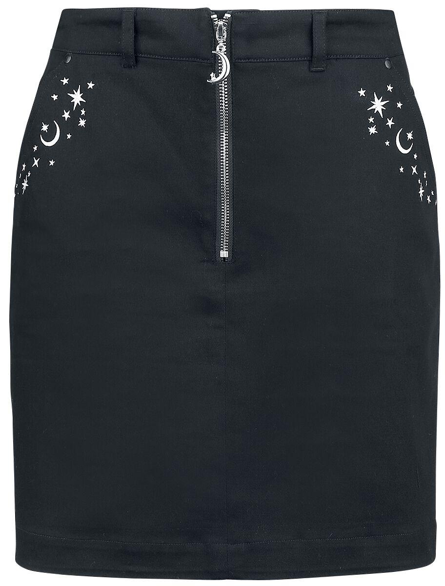 Hell Bunny - Interstellar Mini Skirt - Kurzer Rock - schwarz