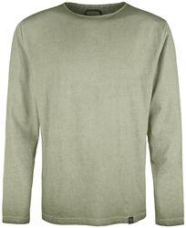 Olives Langarmshirt mit Waschung