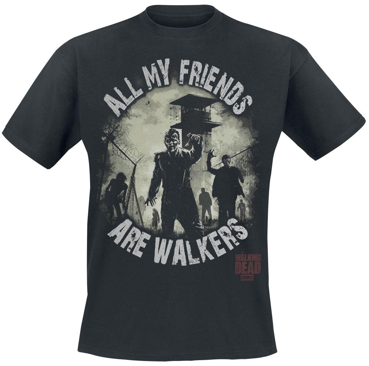 The Walking Dead My Friends Are Walkers T-Shirt schwarz TWD-TS- 09-261