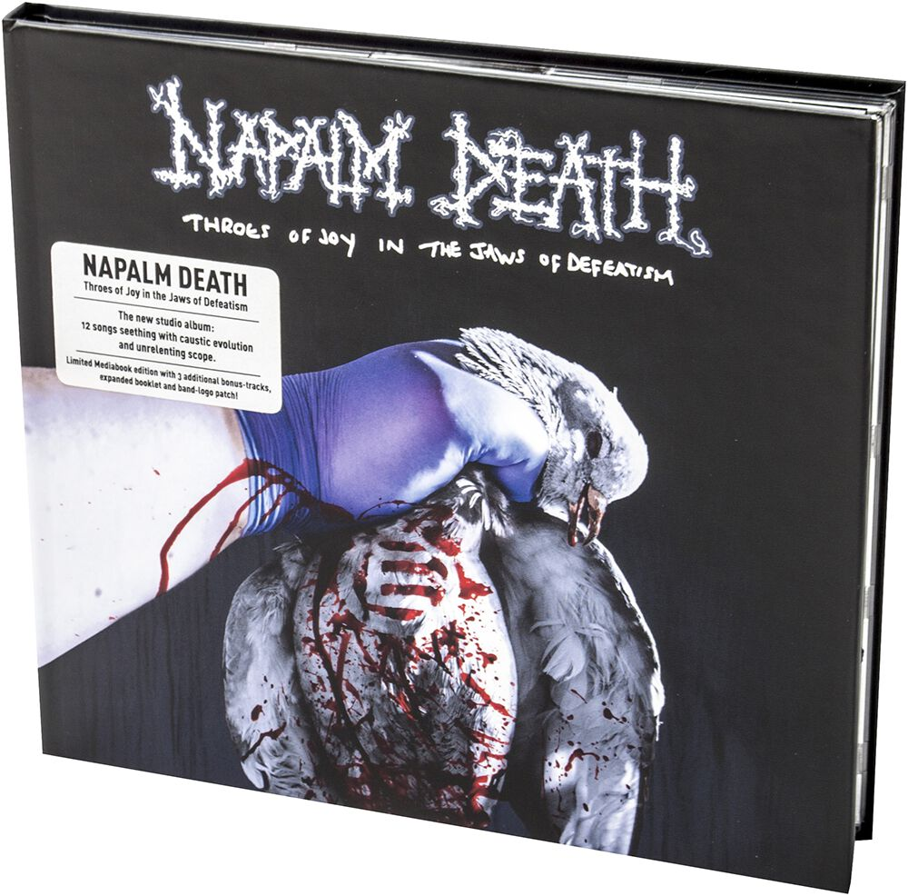 Image of Napalm Death Throes of joy in the jaws of defeatism CD & Patch Standard