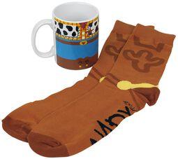 Woody - Tasse mit Socken