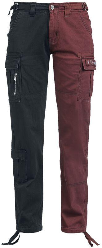 Zweifarbige Cargo-Hose