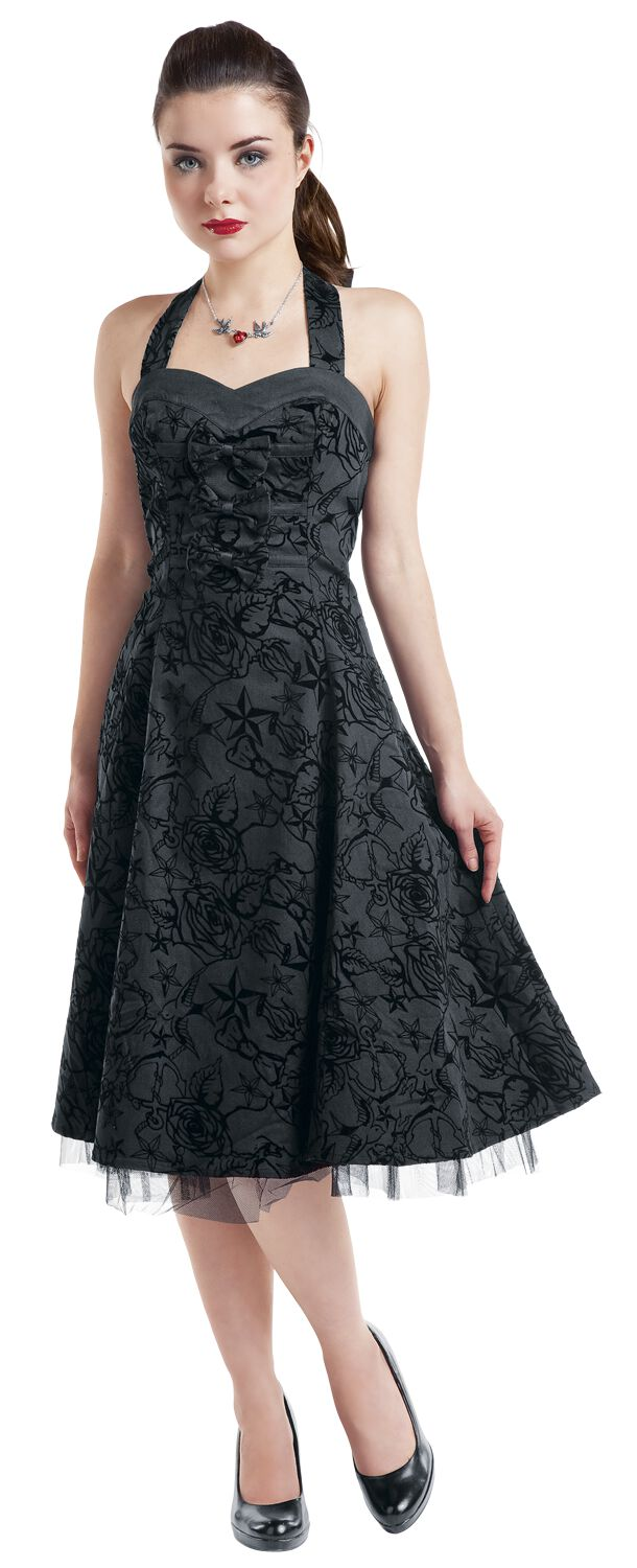 longue tattoo dress | h&r london mittellanges kleid | emp