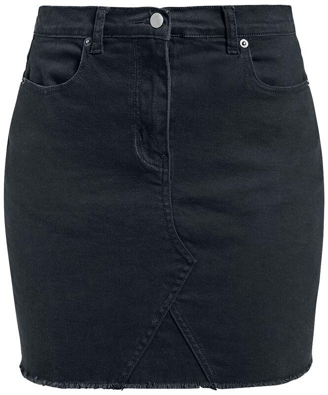 Fringe Denim Skirt