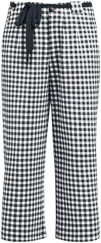 Plaid Cherries Culottes Pants