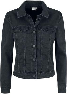 Debra Black Wash Denim Jacket