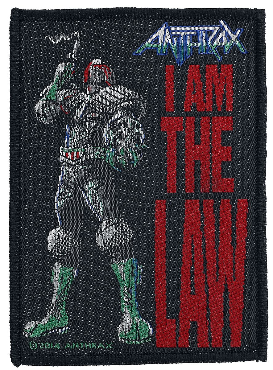 Image of Anthrax I Am The Law Patch multicolor