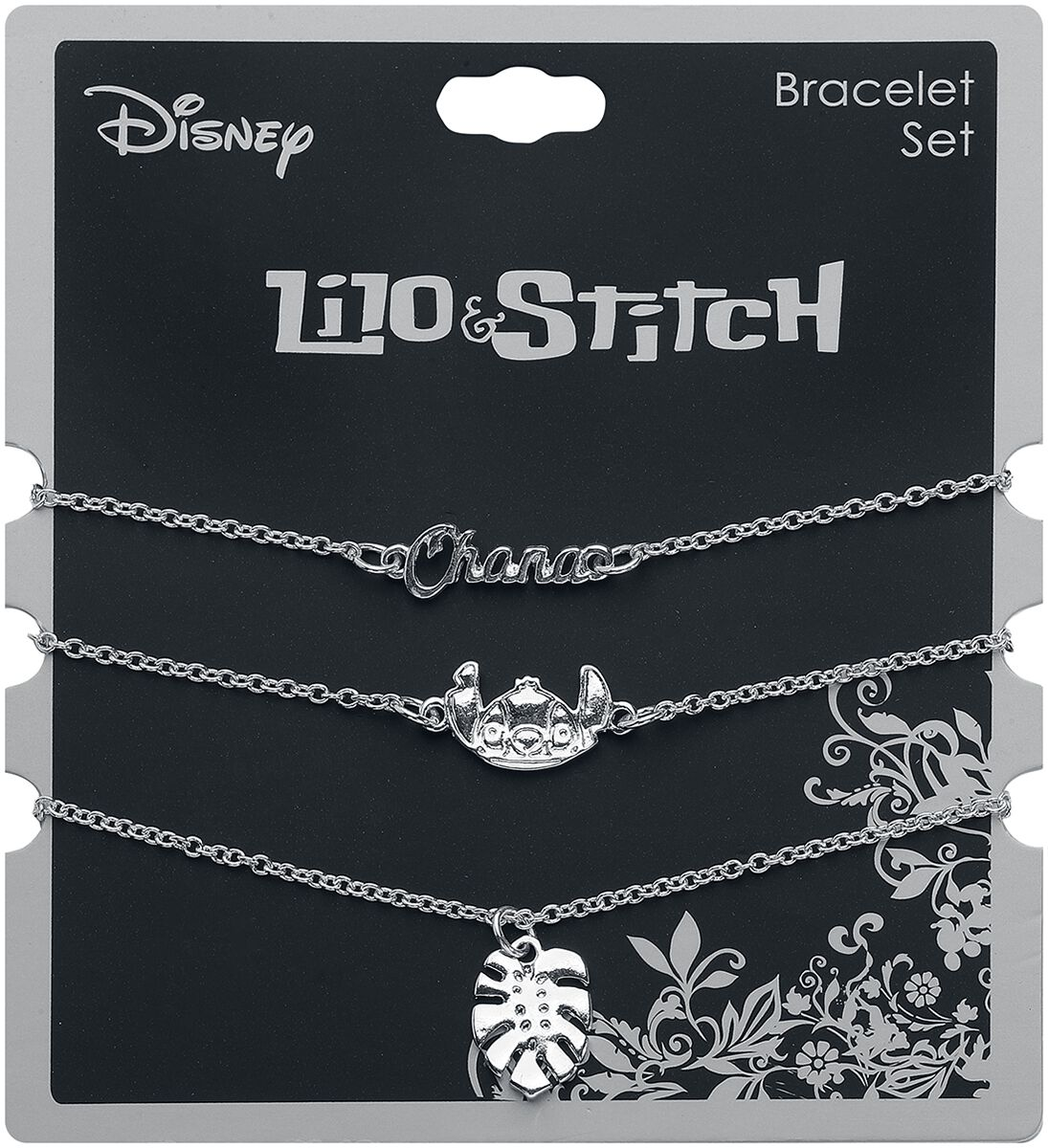 Image of Lilo and Stitch Stitch Armband-Set silberfarben