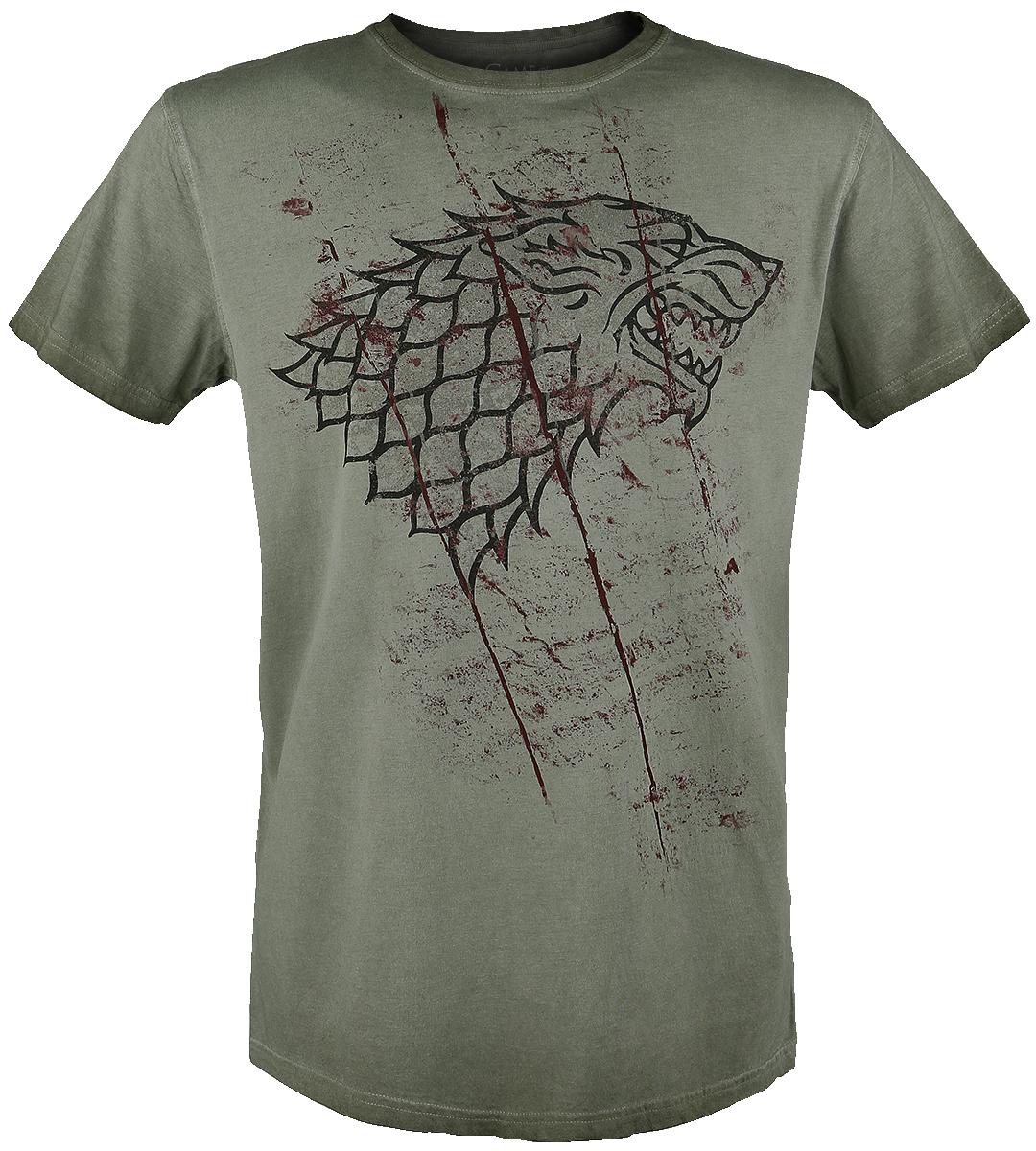 Game of Thrones - Stark Slashed Sigil - T-Shirt - olive image