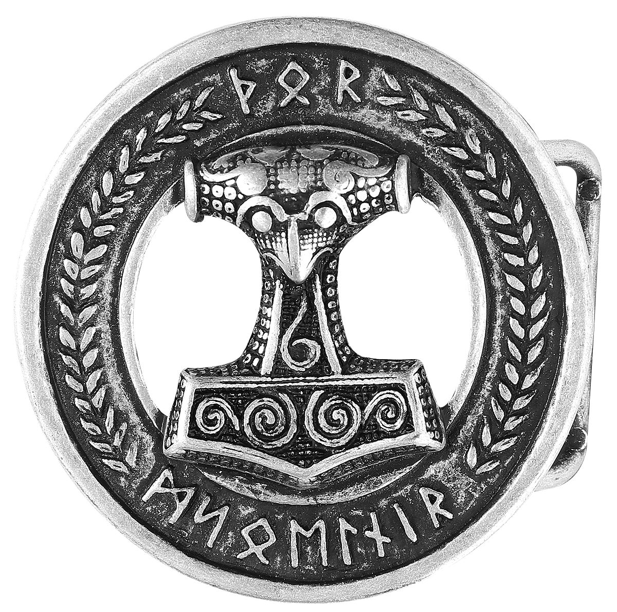 etNox hard and heavy Thor's Hammer  Gürtelschnalle  Standard