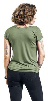 T-Shirt mit Brusttasche und V-Ausschnitt
