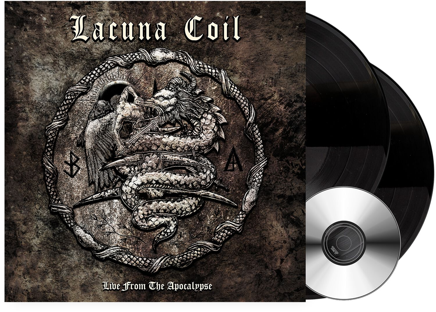 Image of Lacuna Coil Live from the apocalypse 2-LP & DVD schwarz
