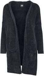 Ladies Oversize Chenille Cardigan