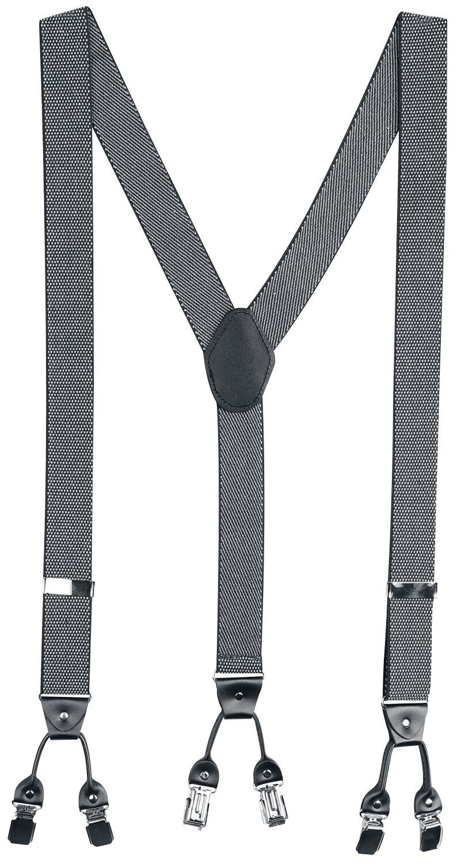 Banned Alternative - Rockabilly Braces - Hosenträger - schwarz|grau