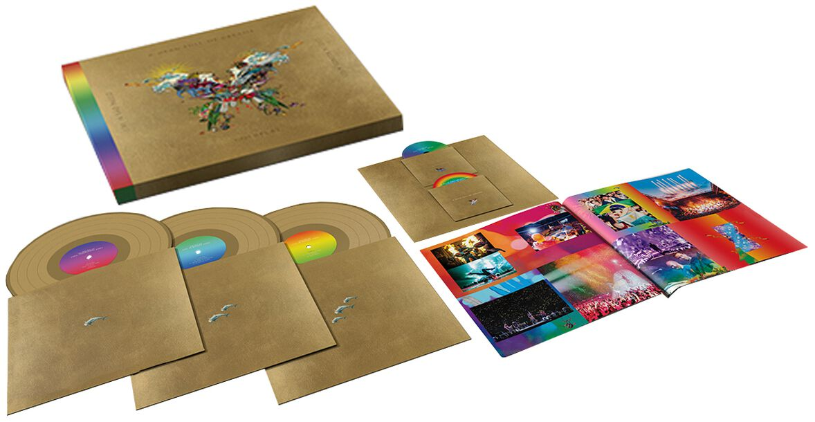 Image of Coldplay Live in Buenos Aires 3-LP & DVD goldfarben